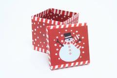 配件箱圣诞节装饰 免版税图库摄影