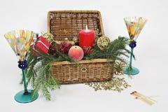 配件箱圣诞节 免版税库存图片