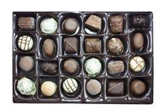 配件箱块菌状巧克力 库存图片