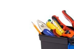 配件箱塑料工具 免版税库存照片