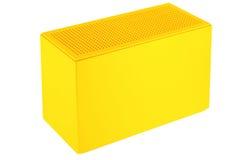 配件箱塑料黄色 库存照片