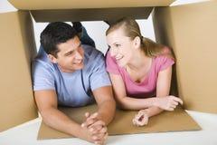 配件箱夫妇位于 免版税库存照片