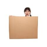 配件箱女孩一点 免版税图库摄影