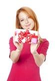 配件箱女孩存在 免版税库存图片