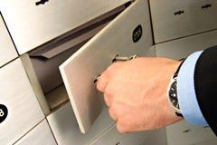 配件箱安全开锁 免版税库存图片