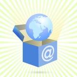配件箱家庭互联网向量 免版税图库摄影