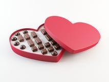 配件箱巧克力s华伦泰 免版税库存照片