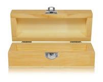 配件箱开放木头 库存图片