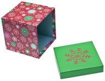 配件箱开放礼品的节假日 库存照片