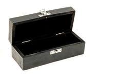 配件箱开放长方形 免版税图库摄影