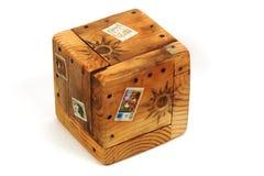 配件箱异乎寻常木 免版税库存照片