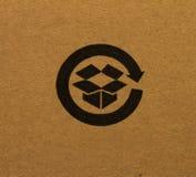 配件箱徽标回收 免版税库存图片