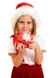 配件箱愉快儿童的圣诞节 库存图片
