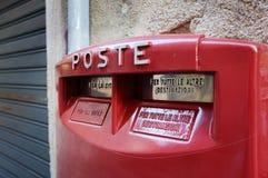 配件箱意大利人邮件 免版税图库摄影