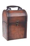 配件箱把柄查出的空白木 库存照片