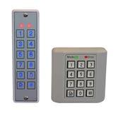 配件箱控制家面板通过塑料证券 免版税库存图片