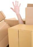 配件箱推出现有量的堆 图库摄影