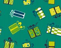 配件箱无缝礼品的模式 免版税库存照片