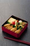 配件箱日本人午餐 免版税库存照片