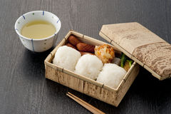 配件箱日本人午餐 图库摄影