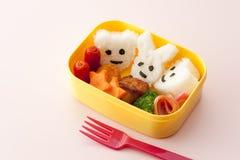 配件箱日本孩子午餐 免版税库存照片