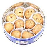 配件箱曲奇饼丹麦舍入 免版税库存图片