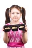 配件箱曲奇饼女孩藏品图象一点 库存照片