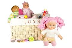 配件箱查出的玩具 图库摄影
