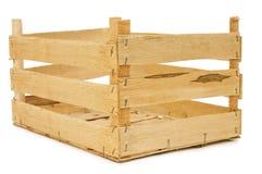 配件箱查出的空白木 图库摄影
