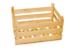 配件箱查出的空白木 免版税库存图片