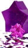 配件箱桃红色玫瑰华饰形状的星形 免版税图库摄影