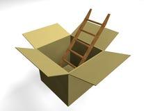 配件箱梯子 库存照片