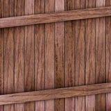 配件箱棕色木头 免版税库存图片