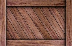配件箱棕色木头 库存图片