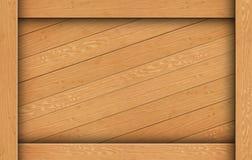配件箱棕色木头 库存照片