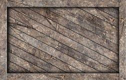 配件箱棕色老木头 库存图片