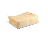 配件箱棕色被弄皱的损坏的纸运输 免版税图库摄影