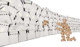 配件箱概念人唯一墙壁 免版税图库摄影