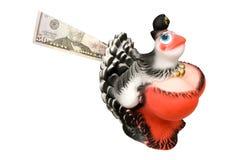 配件箱母鸡货币 免版税图库摄影