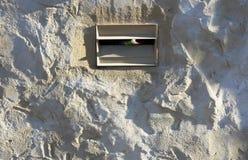 配件箱水泥信函墙壁 库存图片