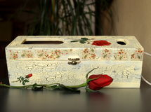 配件箱玫瑰酒红色 库存照片