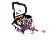 配件箱珠宝钢琴 库存照片