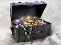 配件箱珠宝 免版税图库摄影