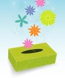 配件箱用花装饰的喷嚏 库存照片
