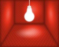 配件箱电灯泡光 库存图片