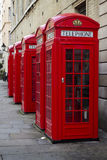 配件箱电话红色英国 库存图片