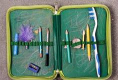 配件箱画笔p铅笔牙牙 库存图片