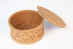 配件箱盒盖开放木头 免版税图库摄影
