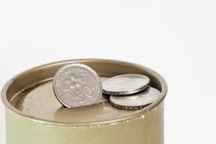 配件箱硬币 免版税库存图片