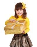 配件箱礼品女孩开放的一点 免版税图库摄影